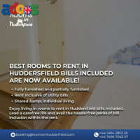 Rooms for Rent in huddersfield including bills for your best holidays