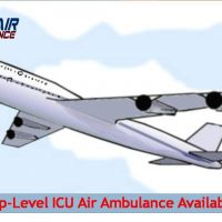 Avail MICU Enabled Air Ambulance Service in Bilaspur with Medical
