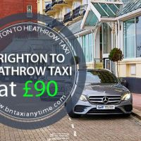 Reliable Taxi Services From Brighton to Heathrow Starting from £90