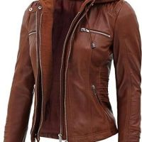 Motorcycle Real Lambskin Leather Jackets for Women