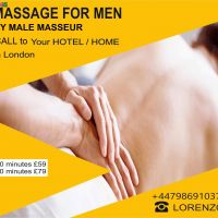 FULL BODY MASSAGE for MEN by MALE MASSEUR to U`r HOTEL /HOME in London