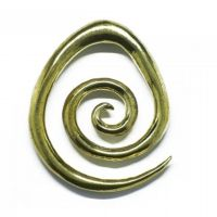 Shop Gold Brass Spiral Ear Weights From Sacred Skin Body Jewellery