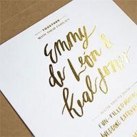 Golden shimmery screen printed Table Place Cards