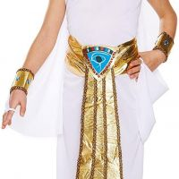 Girls Egyptian Queen Costume Cleopatra Fancy Dress Book Week Outfit