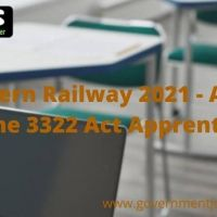 Southern Railway 2021 - Apply Online 3322 Act Apprentice