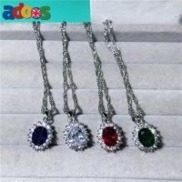 Stunning 925 Sterling silver Princess Diana Pendant necklace