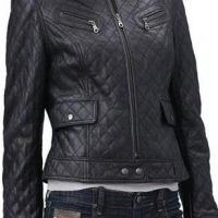 Women's Leather Jacket 3D Quilted Lambskin