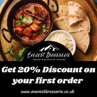 20% Discount on First Order! at Everest Brasserie