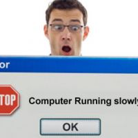 What is the reason for computer running moderate (slow)?