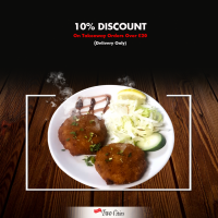 10% Discount on Delivery orders over £20 at Taste of Two cities