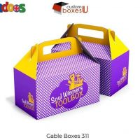 Kraft gable boxes wholesale with Printed logo & Design in UK