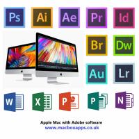 APPLE MAC WITH ADOBE PHOTOSHOP, ILLUSTRATOR,LIGHTROOM & MSOFFICE SOFTWARE PACKAGE