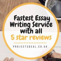Projects deal is No.1 Fastest Dissertation / Essay Writing for 100% Grades