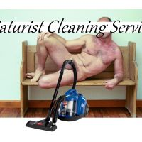 Naturist / Nude Male Cleaner