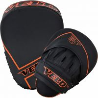 VELO Boxing Pads and Gloves Set, Matt Leather Hook and Jab Training