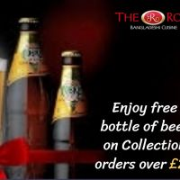 Enjoy free bottle of beer on Collection orders over £25 from The Rose