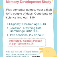 Participants Needed for Memory Development Study - Earn £10