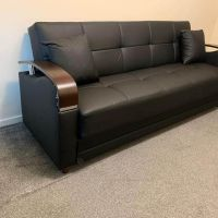 Leather 3 seater sofa bed with storage capacity Best quality product