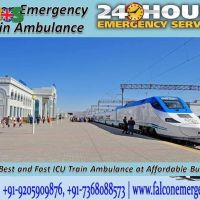 Get the Advance Support of the Train Ambulance in Patna by Falcon