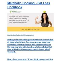 Metabolic Cooking - Fat Loss