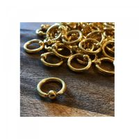 Shop Ball Closure Ring - Gold PVD From Sacred Skin Body Jewellery