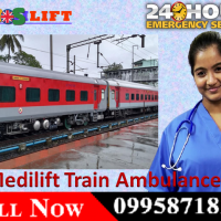 Medilift Train Ambulance Services in Dibrugarh Available at 24 Hours